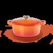 Le Creuset öntöttvas kerek edény 24 cm flame