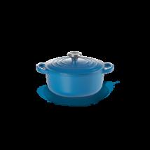 Le Creuset önöttvas kerek főzőedény 26 cm marseille kék