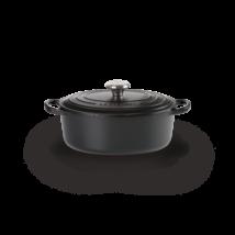 Le Creuset öntöttvas ovális edény 29 cm matt fekete