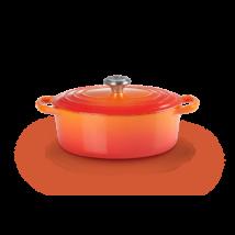 Le Creuset ovális öntöttvas edény 27 cm flame