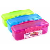Sistema snack attack műanyag két részes tároló doboz színes (410ml)