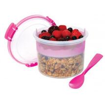 Sistema Breakfast to go műanyag doboz kanállal (530ml)