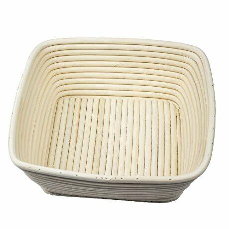 20 x 20 cm-es kenyérkelesztő kosár négyzet alakú