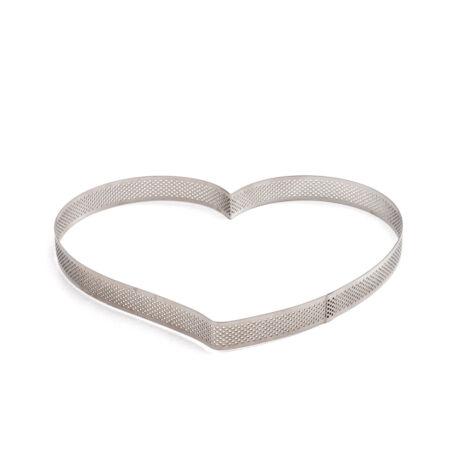 Decora fém szív alakú sütőkeret 18 cm