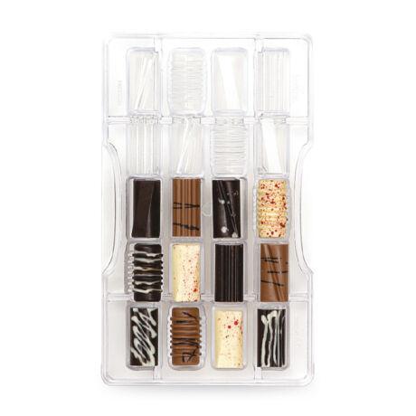 Decora polikarbonát csoki bonbon forma Assortiti