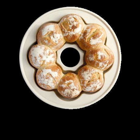 Emile Henry crown bread kerámia kenyér sütőtál (lin)