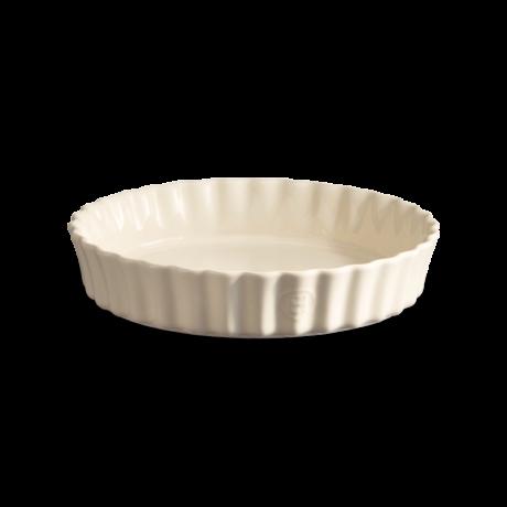 Emile Henry kerek mély kerámia quiche sütőforma 28 cm (argile)