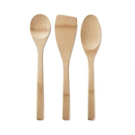Bambu bambuszból készült 3 részes konyhai spatula készlet