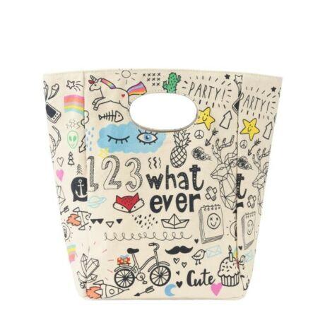 fluf Lunch Bag Whatever textil ételhordó táska (28 x 20 x 11 cm)