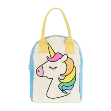 fluf zip Lunch Unicorn textil ételhordó táska
