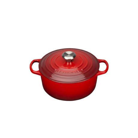 Le creuset kerek öntöttvas edény 24 cm piros