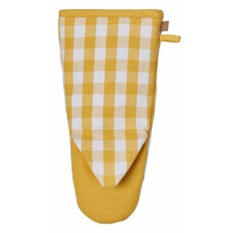 Ulster Weavers Gingham yellow edényfogó kesztyű