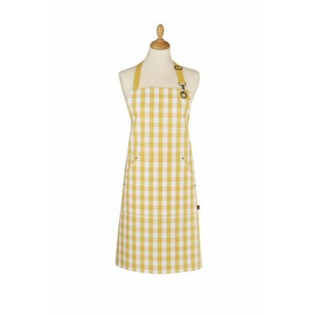 Ulster Weavers Gingham yellow textil kötény