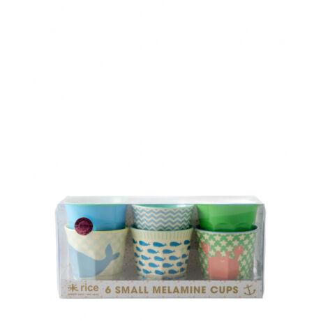 Rice melamin gyerek pohár készlet 6 db Ocean