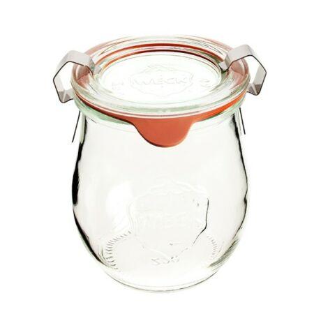 Befőttesüveg üvegtetővel