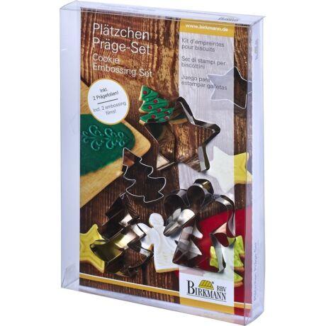 Fém kiszúróforma készlet karácsonyi - dekoráló lappal