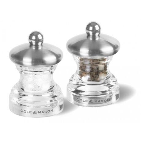 Button acryl-króm só és borsörlő szett 65mm