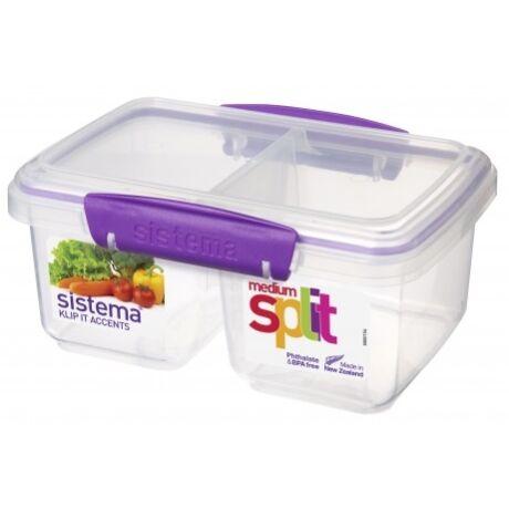 műanyag frissentartó doboz 2 rekeszes