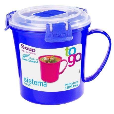"Sistema ""To go"" műanyag leves ételhordó 656 ml"
