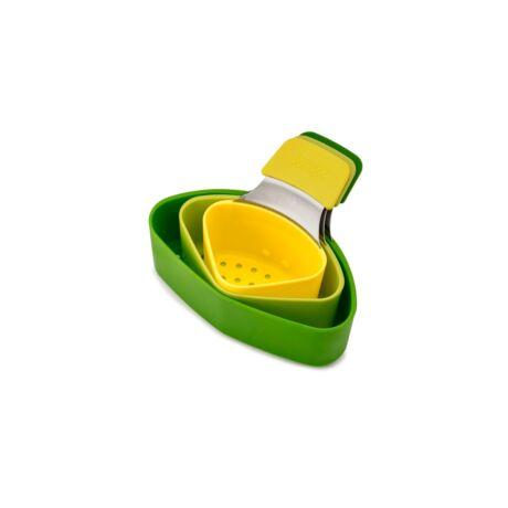 Nest 3 részes  műanyag pároló szett (zöld/sárga)