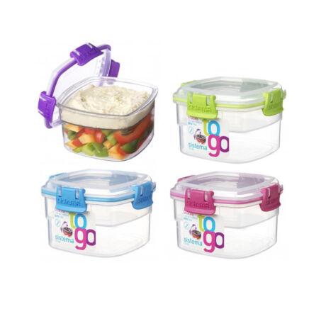 Sistema Snack to go 2 rekeszes műanyag tároló doboz (400ml)