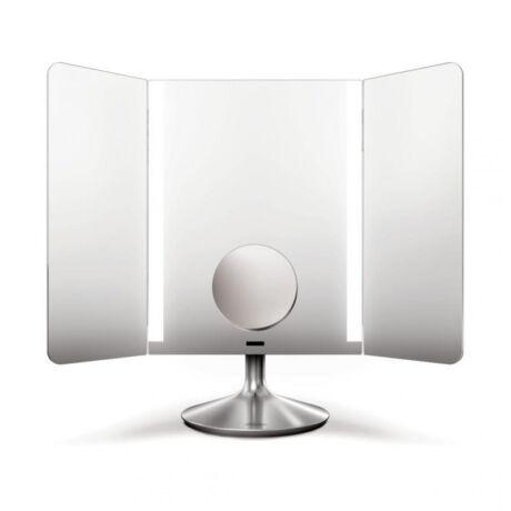 Simplehuman ST3014 széleslátószögű, szenzoros megvilágítású, 1x/10x-es nagyítású smink tükör