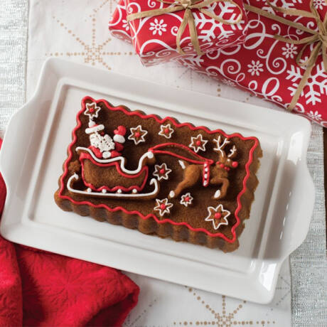 Nordicware Santa's sleigh püspökkenyér forma
