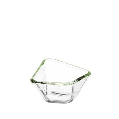 Leonardo Panarea üveg tálka 13 (zöld)