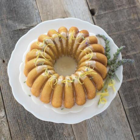 """Nordic ware fém kuglóf sütőforma """"Elegant party Bundt pan""""  arany"""
