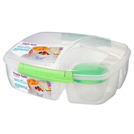 Sistema Triple Split lunch 3 rekeszes műanyag tároló doboz (2L)