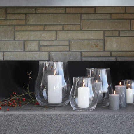 Leonardo Giardino üveg gyertyatartó 22 cm
