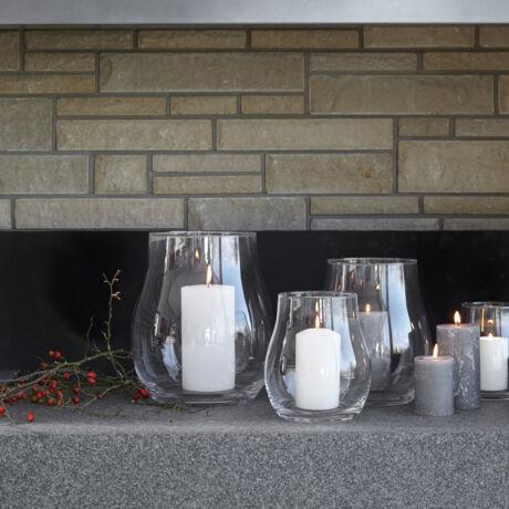 Leonardo Giardino üveg gyertyatartó 32 cm