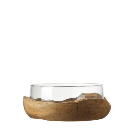 Leonardo Terra üvegtál tíkfa tartóban (28cm)