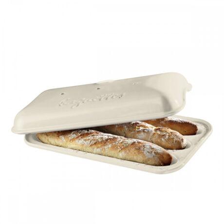 Emile Henry kerámia baguette sütőforma lin színben EH505506