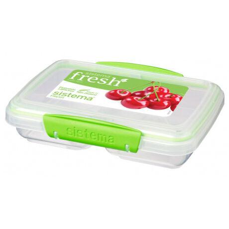 Fresh két rekeszes műanyag tároló átlátszó (350ml) 951517