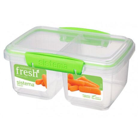 Sistema Fresh két rekeszes műanyag tároló átlátszó (1 l ) 951620