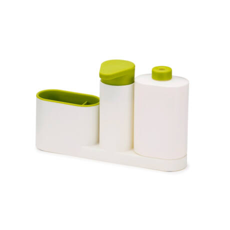 Joseph Joseph SinkBase Plus műanyag mosogatószer és tisztítóeszköz tároló (fehér/zöld) 85082