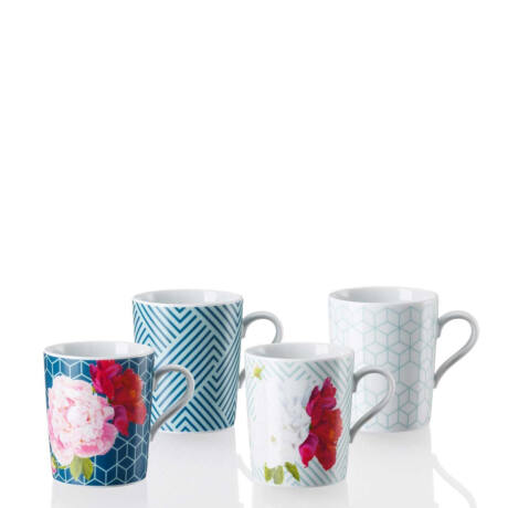 Vivid Bloom Tric 2018 porcelán bögre készlet 4 db
