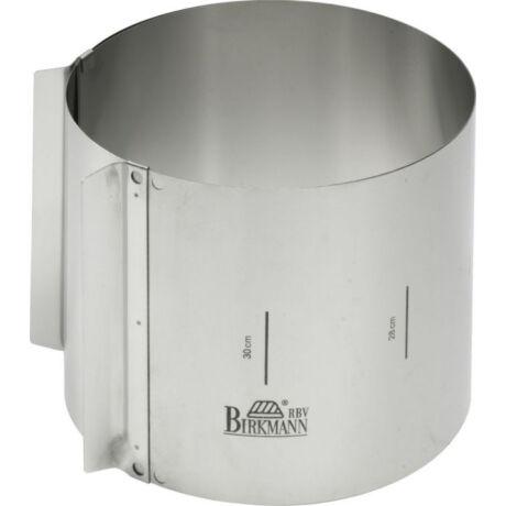 Birkmann Easy Baking 15 cm magas állítható fém tortagyűrű 18-30 cm