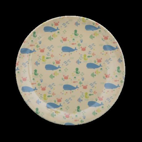 Rice Ocean gyerek műanyag tányér